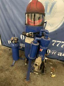 Shot / Sand / Grit 1028 Mighty Mite Blast Pot complete set up