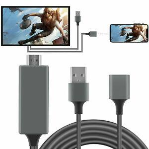 Cable de Teléfono TV HDTV Para iPhone Adaptador de Corriente Puerto USB