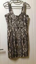 H&M Snakeskin Print Dress Size 8