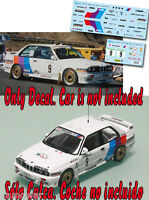 Decal 1:43 John Bosch - BMW M3 - Rally El Corte Ingles 1988