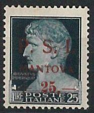 ITALIA RSI - C.L.N. MANTOVA Sassone 10  nuovo non linguellato **