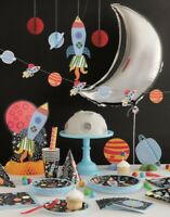 OUTER SPACE Solar System Moon Boys Party Tableware Range Balloons & Decorations