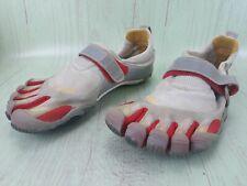 VIBRAM Bikila Five Fingers Barefoot Shoes White Gray Red M343 Sz 42 US 9/9.5