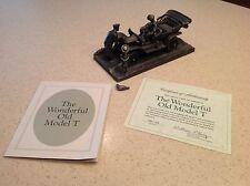 Vintage Franklin Mint Pewter The Wonderful Old Model T Car W/ COA Lionel Forrest
