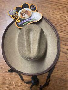 NWT, Brown Halloween  Dog Cowboy Hat Size S /M