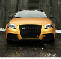 A3 Front Grill Mesh Grille for Audi A3 8P & S3 2009-12 To RS3 Style Full Black