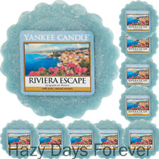 10 YANKEE CANDLE WAX TARTS Riviera Ecape  MELTS fresh scented