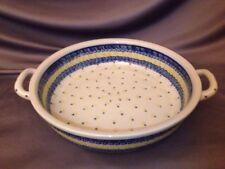 Hand Made Boleslawiec Polish Pottery Baker with 2 Handles Ceramika Artystycz