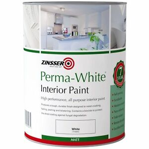 Sale Zinsser Perma-White Interior Matt Mould Resistant Paint (eggshell) 2.5L