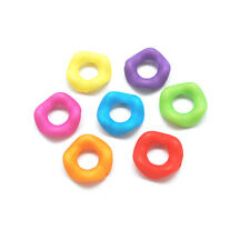 Lot of 50 Big 15mm Assorted Wavy Round Acrylic Donut Rondelle Beads w/ 6mm Hole