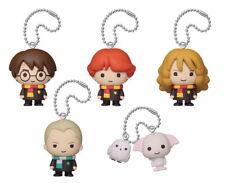 Official Harry Potter figure mascot keychain set Hermione Ron Draco Hedwig Dobby