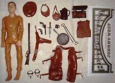 Johnny West & 100% Mint 24 Piece Accessories Lot Manual Marx Cowboy Indian