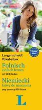 Langenscheidt Vokabelbox Polnisch einfach lernen - für Anfänger und Wiedereinste
