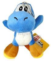 "Nintendo Super Mario Brothers Blue Yoshi 5"" Plush Doll Hanger"