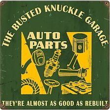 Busted Knuckle Garage Auto Parts Cartello in metallo 300mm x 300mm (PST)