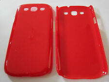 Red Samsung Galaxy S3 SIII S III i9300 Hard Plastic Full Back , Snap-On Case