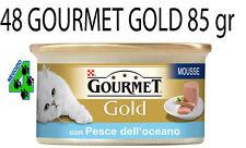 48 GOURMET GOLD 85 GR GATTO CAT MOUSSE SCATOLETTA SCATOLETTE CIBO GATTI