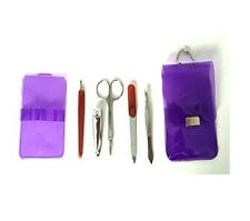 New ~ Halsa Spa Essential 5 Piece Manicure Pedicure Grooming Set With Clear Case