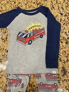 Toddler Boys Pajamas Summer Short Sets Fire Truck 100/% Cotton Kids Pjs Excavator Sleepwear Clothes Set Size 1-7T