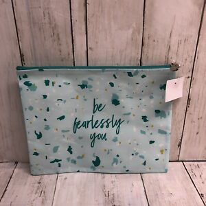 """Thrive Causemetics - """"Be Fearlessly You"""" Makeup Pouch Bag with Zipper"""