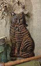 CAT Barn Beeswax Blackened Cinnamon Scented Folk Art Primitive Ornament Kitten
