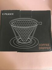 Pour Coffee Dripper Stainless Steel Coffee Filter Reusable Removable Cup Stand