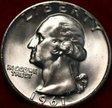 Uncirculated 1961  Philadelphia Mint Silver Washington Quarter