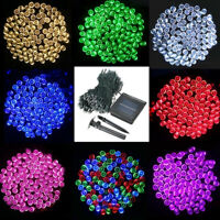 100/200/500 LED String Solar Powered Fairy Lights Garden Party Christmas
