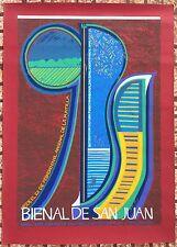 Luis Alonso 9 Bienal Del Grabado San Juan Puerto Rico Serigraph Cartel Poster 91