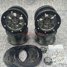 4PCS FULL METAL 2.2 Beadlock Wheels Gun Metal FOR RC Car AXIAL WRAITH SCX10 RIMS