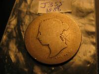 1888 Canada 25 Cent Rare Silver Coin IDJ355.