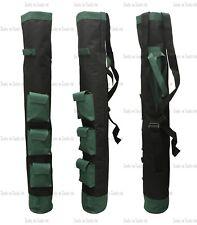 """1 x Green & Black 3 Pockets Pencil Golf Club Ball Bags 34"""" Height Light Weight"""