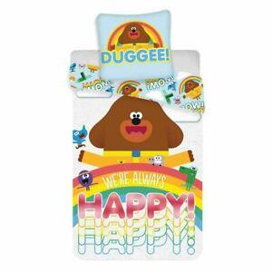 Hey Duggee Happy Single Bedding Set Childrens Reversible Duvet Cover Polycotton
