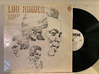 Lou Rawls – A Man Of Value LP 1972 MGM Records – SE-4861 Funk / Soul EX