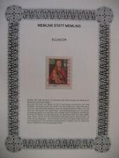 Irrtümer auf Briefmarken / Ecuador 1967 Mi 1347 : Gemälde - Hans Memling