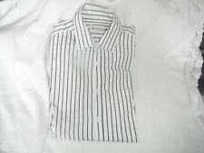 shirt  white/black striped  size medium