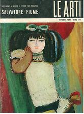 SALVATORE FIUME SUPPLEMENTO OTTOBRE 1966 LE ARTI PITTURA