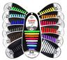16pcs Silicone No Tie Unisex Shoelaces for Adult, Elastic Shoe Laces, 13 Colours