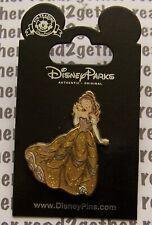 Disney Pin Princess Belle Glitter Dress Beauty and the Beast