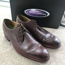 Oliver Sweeney Mens Montgomery Brown Leather Formal Shoes Uk 8.5 Eu 42.5 Italian