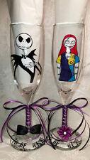 Nightmare Before Christmas Jack and Sally Custom Wedding Glasses