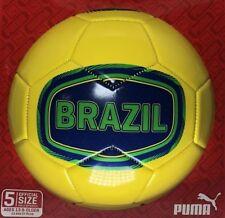 Puma Brazil Soccer Ball Size 5 Yellow Futbol