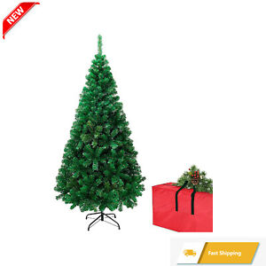 NEW Easy Assembly Christmas Artificial 4Ft Tree with Storage Bag & Metal Stand