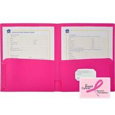 Lion Office 2-Pocket Pink Ribbon Portfolio - 91100HP