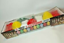 1970s Retro South Seas Lanterns Vintage Party Belco string Lights 7 lamps in box