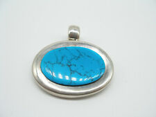 Taxco Ta-93 Mexico Lovely Gift Sterling Silver Turquoise Pendant Gorgeous
