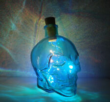 Blue Glass Crystal Skull Light - LED - Home Decoration - Multicolored LED