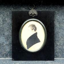 Antique Georgian Miniature Portrait Painting EDWARD DIX M.R.C.S., L.S.A. c.1825
