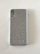 Michael Kors Iphone X Case Bling Rhinestones Silver NEW Retail $65