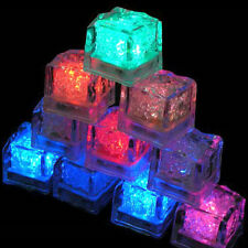 12pcs LED Ice Cubes Color Water Change Sensor Light For Romantic Wedding Party /